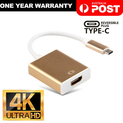 AU12.95 • Buy USB-C Type C USB 3.1 Male To HDMI Female HDTV 1080p Adapter Cable Cord