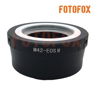 $7.99 • Buy M42-EOS M Adapter For M42 Screw Mount Lens To Canon EF-M M1 M2 Mirrorless Camera