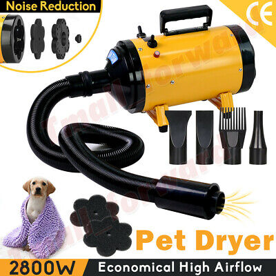 AU85.62 • Buy Dog Cat Hair Dryer Grooming Blow Speed Pet Hairdryer Blower Heater Blaster 2800W
