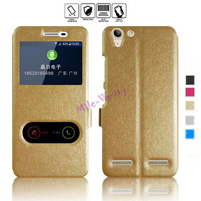 AU4.21 • Buy Magnetic Flip PU Leather Stand View Window Case Cover For Lenovo K3 K5 Note