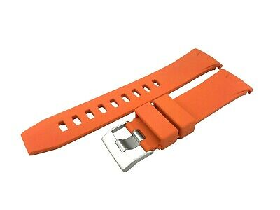 ORANGE 22mm Rubber/Silicone STRAP/BAND FIT OMEGA WATCH SeaMaster PLANET OCEAN • 19.90£