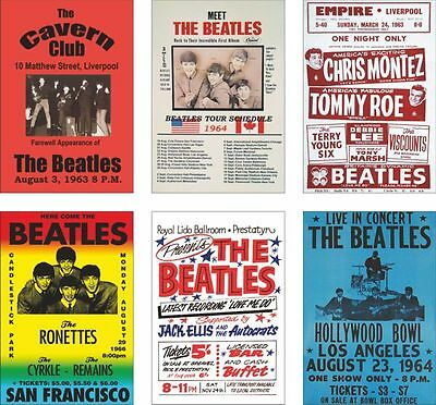 The Beatles Concert Posters POSTCARD Set #3 • 5.99£