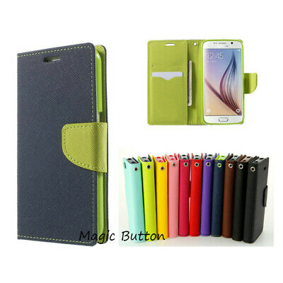 AU6.99 • Buy Leather Flip Wallet Cover Card Slot Soft Gel Case For Galaxy S8 Plus S7 S6 Edge