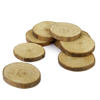 30 Rustic Wooden Slice Tree Trunk For Craft Wedding Centerpieces Table Decor • 6.50£