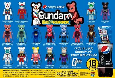 $49.99 • Buy New Medicom PEPSI GUNDAM 70% Bearbrick Kubrick FULL SET