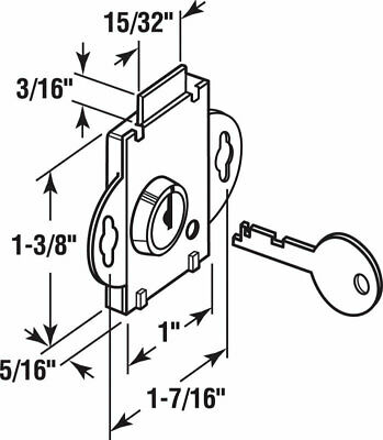 $7.34 • Buy Prime-Line S 4048 Steel Brass Plated Easy To Replace Deadbolt Lock