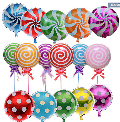 AU1.50 • Buy Helium Foil Balloon - Candy, Lollipop, Palka Dot -18 /45cmWedding Birthday Party
