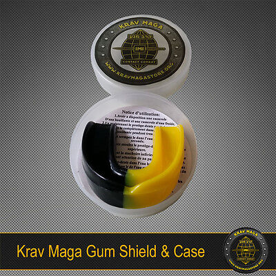 £2.99 • Buy KRAV MAGA PRO GUM SHIELD & CASE YELLOW Edition - Protection For Jaw And Teeth!