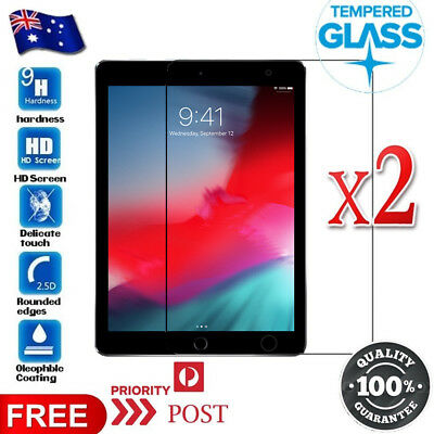 AU9.99 • Buy 2X Tempered Glass Screen Protector For Apple IPad 6th 5th Gen Air 1 2 Pro 9.7