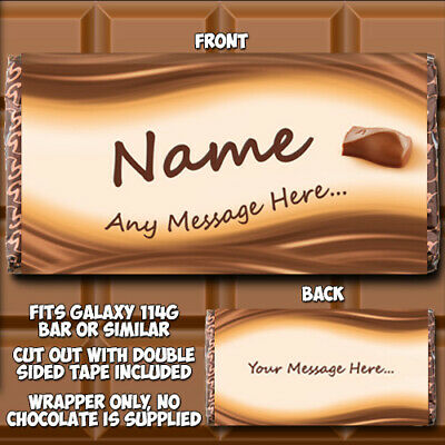 £1.99 • Buy Chocolate Bar Wrapper Personalised Fits Galaxy Birthday Father's Day Idea Dad