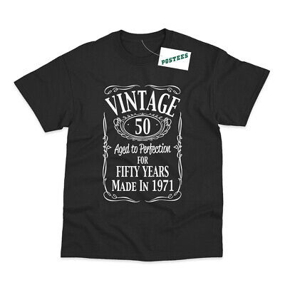 $ CDN15.76 • Buy Vintage 50th Birthday Made In 1971 Funny Printed T-Shirt
