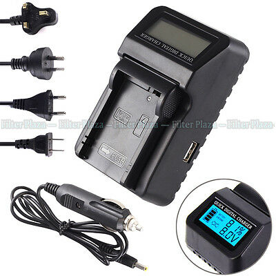 Wall/CAR LCD Battery Charger For LC-E8E LP-E8 Canon EOS 550D 600D 650D 700D USB • 13.62£