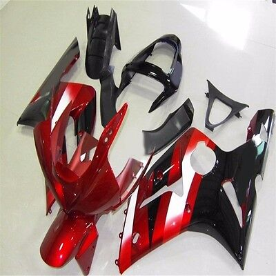 $470.99 • Buy ABS Plastic Bodywork Fairings For Kawasaki ZX6R ZX636 Red Ninja 2003 2004 03 04Q