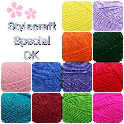 Stylecraft SPECIAL DK Double Knitting Premium Acrylic Crochet Yarn Wool 100g • 2.15£