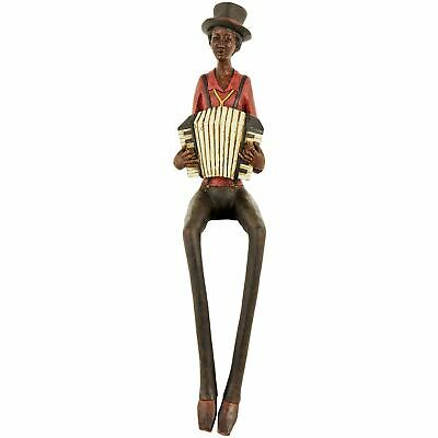 £29.99 • Buy Resin Sitting Jazz Band Squeeze Box Brown Yellow Figurine Ornament 40cm