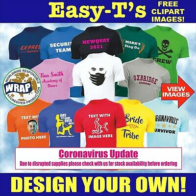 £7.50 • Buy Personalised Custom Printed T Shirt Printing Design Your Own Stag Do Hen Party