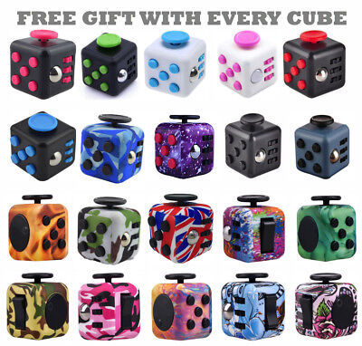 £3.99 • Buy Fidget Cube Spinner Toy Children Desk Adults Stress Relief Cubes ADHD UK