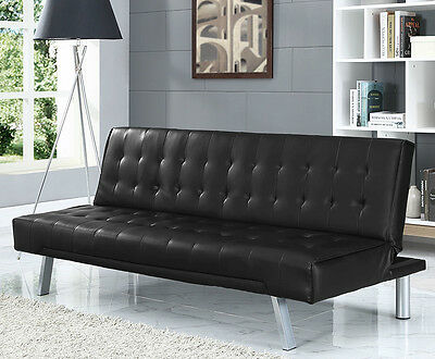 3 Seater Designer Sofa Bed Faux Leather Various Colours Available Modern Design • 114.99£