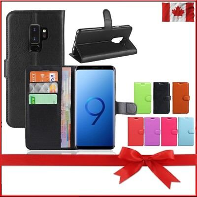 $ CDN8.29 • Buy Wallet Leather Cardholder Flip Case Cover For Samsung Galaxy S8 S9 S10 S10E Plus
