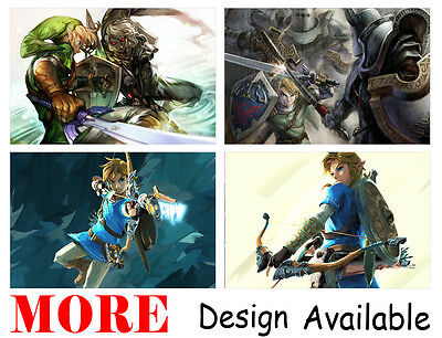 $13.93 • Buy Legend Of Zelda Breath Wild Link 36  X 24  Large Wall Poster Print Anime NEW #1