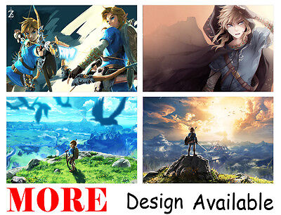 $15.99 • Buy Legend Of Zelda Breath Wild Link 36  X 24  Large Wall Poster Print Anime NEW #2
