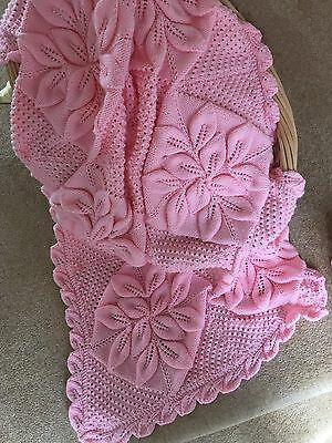 £1.99 • Buy Baby Traditional Blanket/Pram Cover Knitting Pattern Roses And Leaves 4ply 915