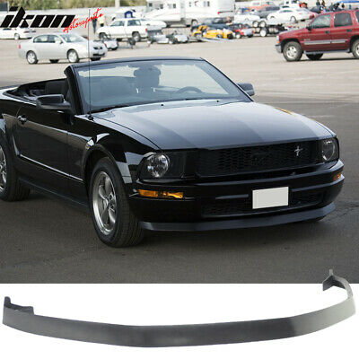 $104.88 • Buy Fits 05-09 Ford Mustang V6 IKON Style Front Bumper Lip Spoiler Unpainted - PU