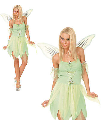 £15.30 • Buy Fairy Tinkerbell Fancy Dress Costume Womens Adult Neverland Green Ladies Adult
