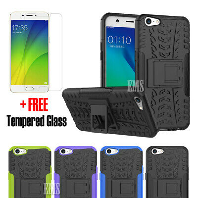AU5.95 • Buy Heavy Duty Tough Shockproof Rugged Case Cover For Oppo A57 + FREE TEMPERED GLASS