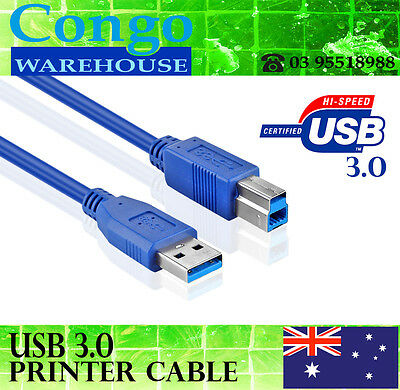 AU8.50 • Buy 1.5m USB 3.0 Type A Male To B Male Printer Scanner Cable Cord Lead Super Speed