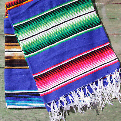 Mexican Stripey Blanket - BLUE • 32£
