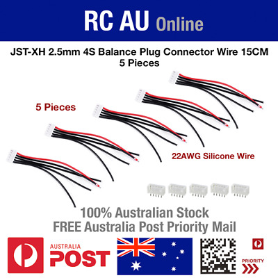 AU9.60 • Buy 4S JST-XH Balance Plug Connector Wire - 5pc - Aust Post Priority Shipping