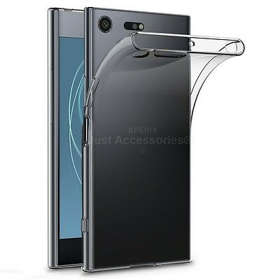 AU6.78 • Buy For Sony Xperia XZ Premium - Clear Gel Case And Tempered Glass Screen Protector