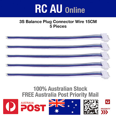 AU9.60 • Buy 3S JST-XH Balance Plug Connector Wire - 15cm - 5pc - Aust Post Priority Shipping