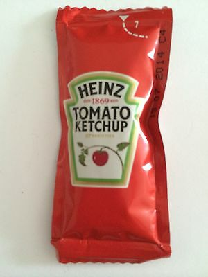 HEINZ TOMATO SAUCE INDIVIDUAL 12g SACHETS 12,25,50,100 Catering Camping Holidays • 4.85£