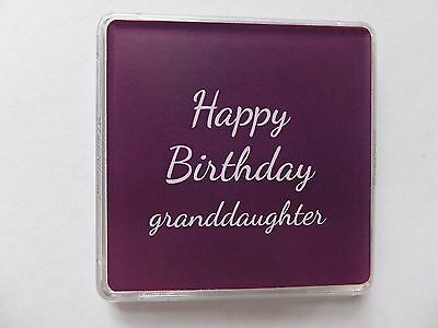 GRANDDAUGHTER BIRTHDAY GIFT Lucky Sixpence Grandaughter Small Charm Keepsake • 2.50£