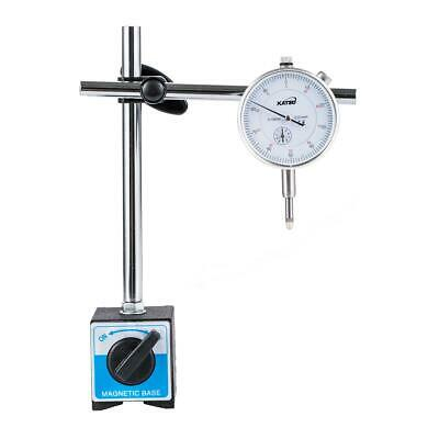Dial Indicator Test DTI Gauge 0-10mm  Double Pole Magnetic Base 40111963 • 14.99£