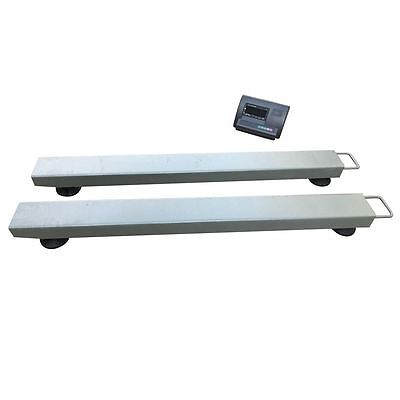 Industrial Beam Scales Pallet Weighing Cattle Crush Scale Heavy Duty Weigh • 251.99£