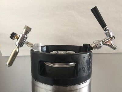 Mini Co2 Regulator Kit Keg King Complete Assembly For Ball Lock Corny Dispensing • 45.81£