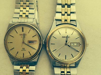 $ CDN105.92 • Buy LOT Of 2 SEIKO WATCHES QUARTZ -  GOOD WORKING CONDITION JAPAN