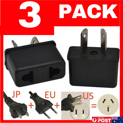 AU5.95 • Buy 3 PACK USA EU EURO ASIA To AU AUS AUST AUSTRALIAN POWER PLUGs TRAVEL ADAPTER 3PC