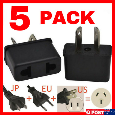 AU6.95 • Buy 5 X USA EU EURO ASIA To AU AUS AUST AUSTRALIAN POWER PLUGs TRAVEL ADAPTER