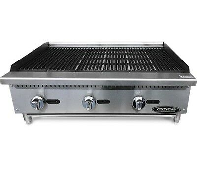 $878 • Buy 36  Char Broiler Grill 3 Burner Charbroiler Radiant Natural LP NEW 3' Charcoal