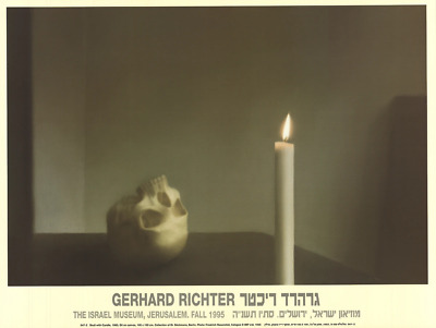 $125 • Buy GERHARD RICHTER Skull With Candle 19  X 25.25  Poster 1995 Contemporary Brown,