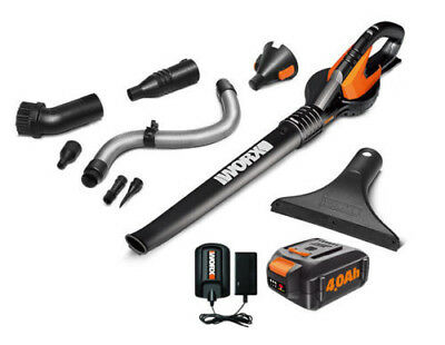 View Details WORX WG545.4 AIR 20V PowerShare 4.0 Ah Cordless With Attachments And Bag • 64.00$