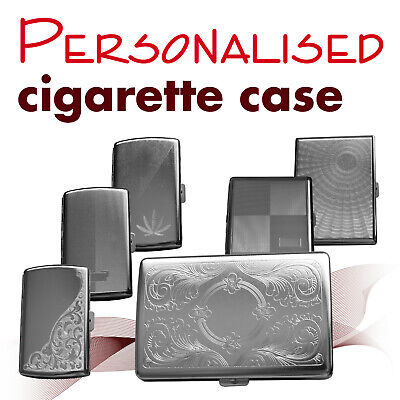 Personalised Metal Cigarette Case * Engraved Name / Initial * GIFT • 5.49£