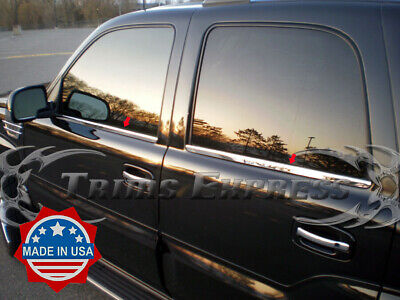 $ CDN113.35 • Buy 2000-2006 Chevy Tahoe 4Pc Chrome Window Sill Stainless Steel Door Cover Trim