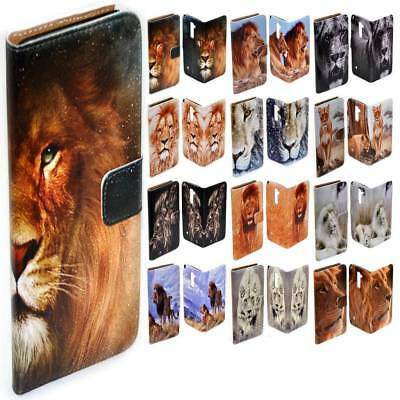 $ CDN14.28 • Buy For Samsung Galaxy Series - Lion Theme Print Wallet Mobile Phone Case Cover #1