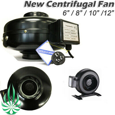 AU149 • Buy Centrifugal Exhaust Inline Duct Fan Quality Grow Tent Room Ventilation Blower