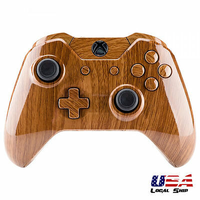 Wooden Grain Full Shell Buttons Repair For Xbox One Controller W/3.5 Mm Jack • 13.89$